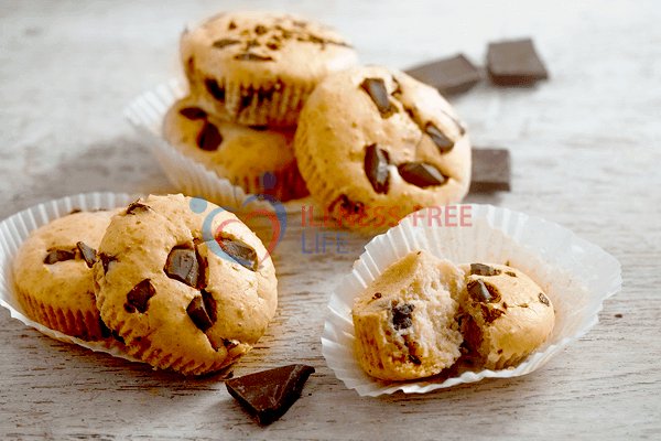 Low-Carb Muffins of Almond Flour & Chocolate